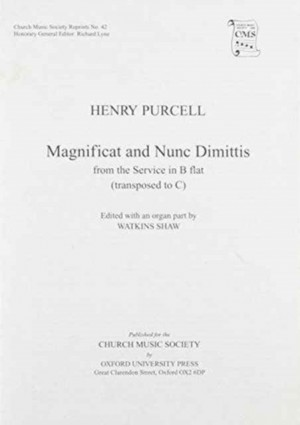 Purcell: Magnificat and Nunc Dimittis from B flat service