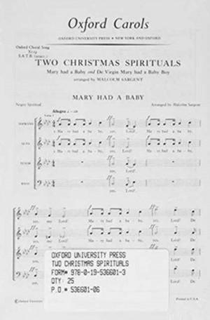 Sargent: Two Christmas Spirituals
