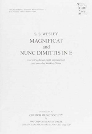 S.S. Wesley: Magnificat and Nunc Dimittis in E