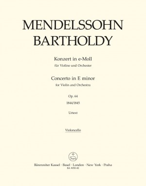 Mendelssohn, F: Concerto for Violin in E minor, Op.64 (Urtext). (Early version and later popular version)