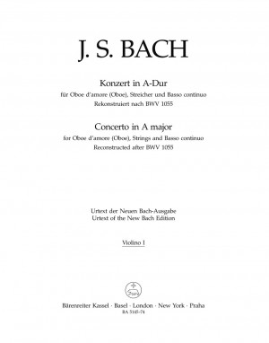 Bach, JS: Concerto for Oboe d'amore in A (after BWV 1055) (Urtext)