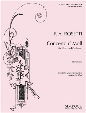Rosetti, A: Horn Concerto d-minor Murray C38