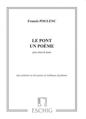 Poulenc Le Pont Un Poème Presto Sheet Music