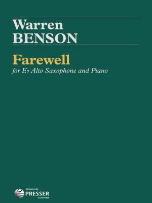 Benson: Farewell (alto)