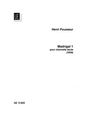 Pousseur, H: Pousseur Madrigal Iii Perc