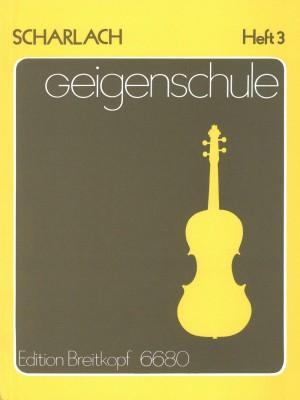 Scharlach: Geigenschule, Heft 3