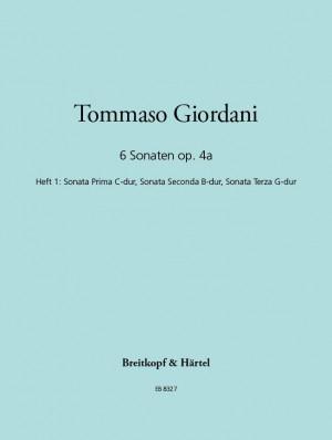 Giordani: Sechs Sonaten op. IVa, Heft 1