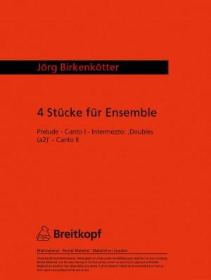 Birkenkötter: Doubles (à2) (aus: Vier Stücke für Ensemble)