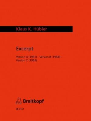 Hübler: Excerpt (Version A, B, C)