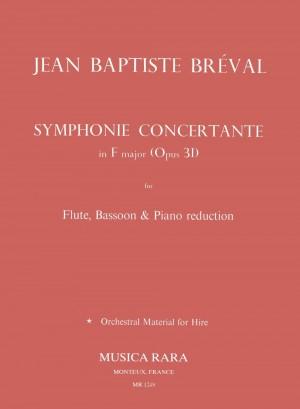 Breval, J: Symphonie Concertante F op. 31