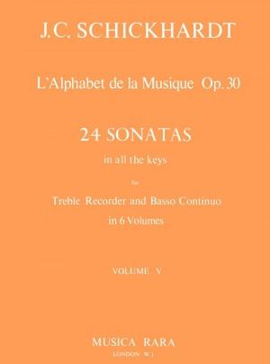 Schickhardt: L'Alphabet:Sonaten op.30/17-20