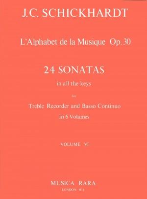 Schickhardt: L'Alphabet:Sonaten op.30/21-24
