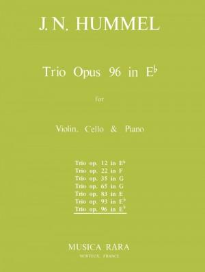 Hummel: Klaviertrio Es-dur op. 96