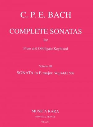 Bach, CPE: Sonate in E Wq 84