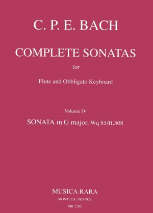 Bach, CPE: Sonate in G Wq 85