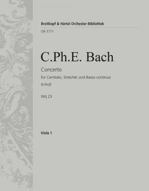 Bach, CPE: Cembalokonzert d-moll Wotq 23