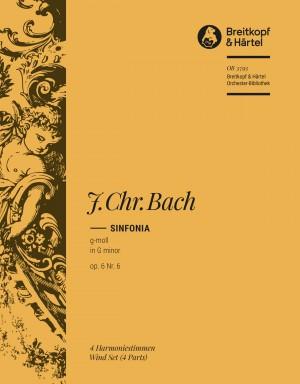Bach, J: Sinfonia g-moll op. 6/6