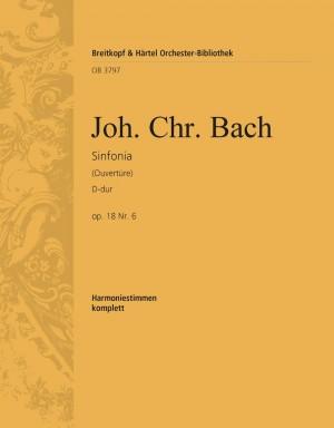 Bach, J: Sinfonia D-dur op. 18/6