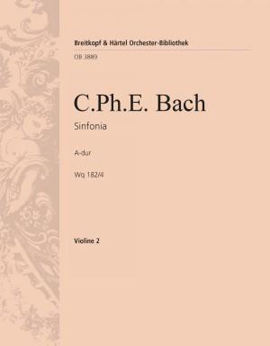 Bach, CPE: Symphonie Nr. 4 A-dur Wq 182/4