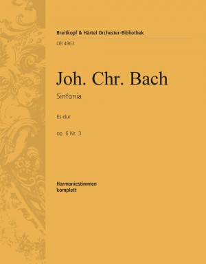 Bach, J: Sinfonia Es-dur op. 6/3