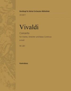 Vivaldi: Concerto e-moll RV 275