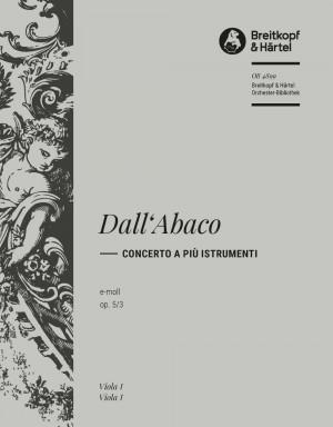 Dall'Abaco: Concerto e-moll op. 5/3