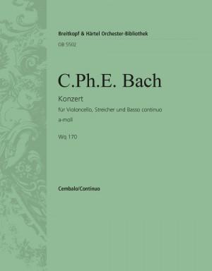 Bach, CPE: Cellokonzert a-moll Wq 170 Product Image