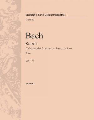 Bach, CPE: Cellokonzert B-dur Wq 171