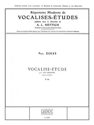 Paul Dukas: Vocalise Etudes N0014