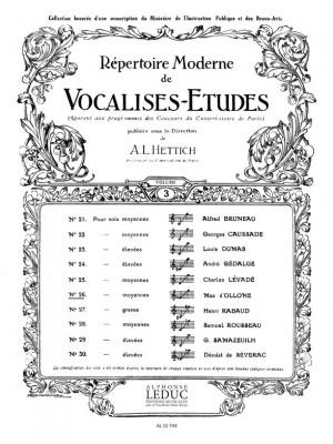 D' Ollone: Vocalise Etude N026