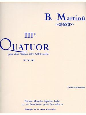 Bohuslav Martinu: Quartet No.3, H183