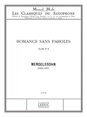 Felix Mendelssohn Bartholdy: Romance sans Paroles No.3 (Classiques No.60)