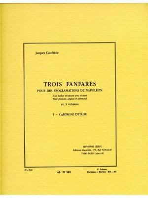Jacques Castérède: 3 Fanfares pour des Proclamations de Napoleon v 1