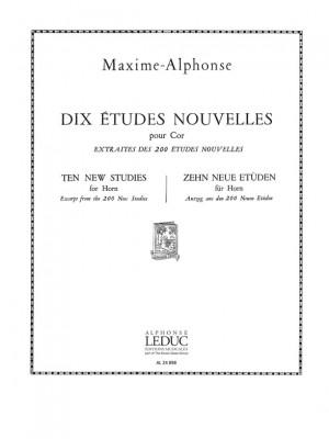 Maxime-Alphonse: Maxime-Alphonse: 10 Etudes nouvelles