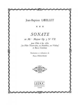 Jean-Baptiste Loeillet: Sonate Op.3, No.7 in E flat major