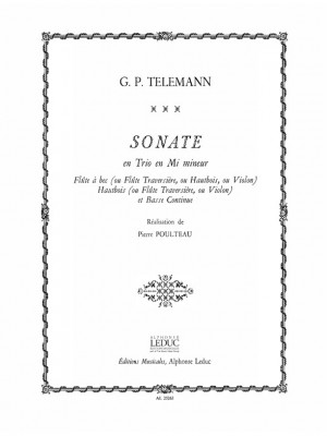 Georg Philipp Telemann: Sonata en Trio in E minor