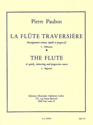 Pierre Paubon: La Flûte traversiere Vol.1