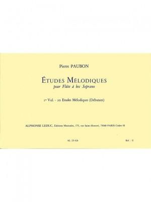 Pierre Paubon: 20 Etudes melodiques