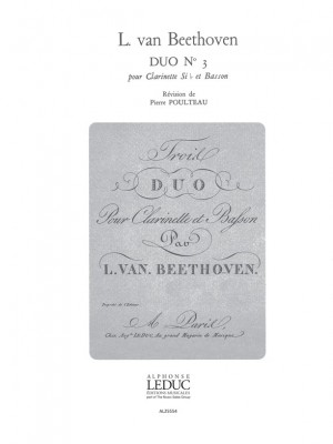 Ludwig van Beethoven: Duo No.3