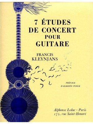 Francis Kleynjans: 7 Etudes De Concert