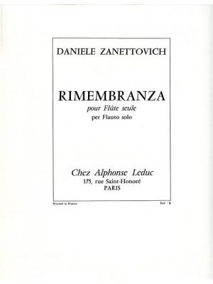 Zanettovich: Rimembranza