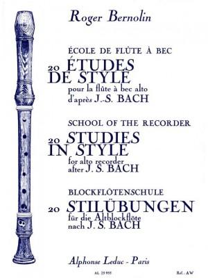 Johann Sebastian Bach: 20 Etudes De Style