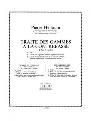 P. Hellouin: Traite des Gammes a la Contrebasse, Cycle 2B