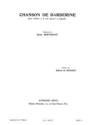 René Berthelot: Chanson De Barberine