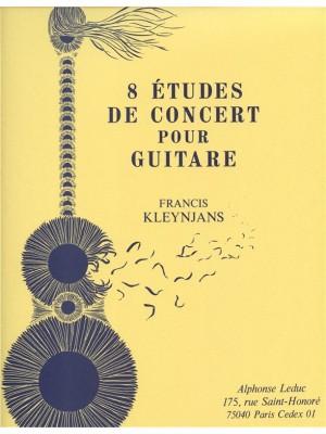 Francis Kleynjans: 8 Etudes De Concert