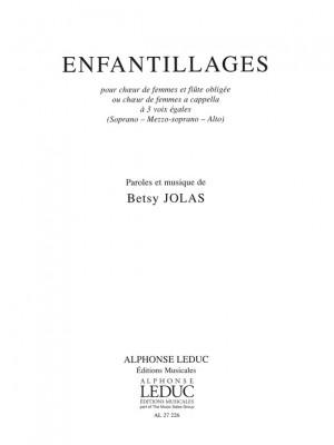 Betsy Jolas: Enfantillages
