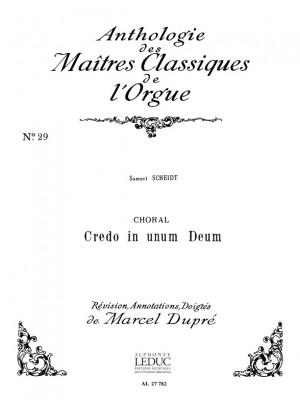 Scheidt: Choral:Credo In Unum Deum
