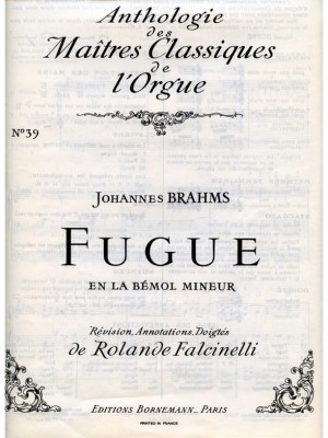 Johannes Brahms: Fugue in A flat minor