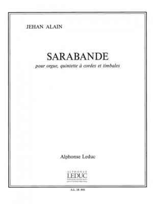 Jehan Alain: Jehan Ariste Alain: Sarabande