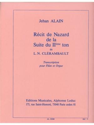 Louis-Nicolas Clérambault: Louis Nicolas Clerambault: Reçit de Nazard